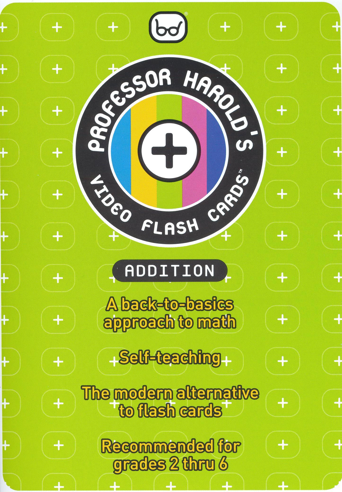 Prof. Harold Video Flash Cards: Addition