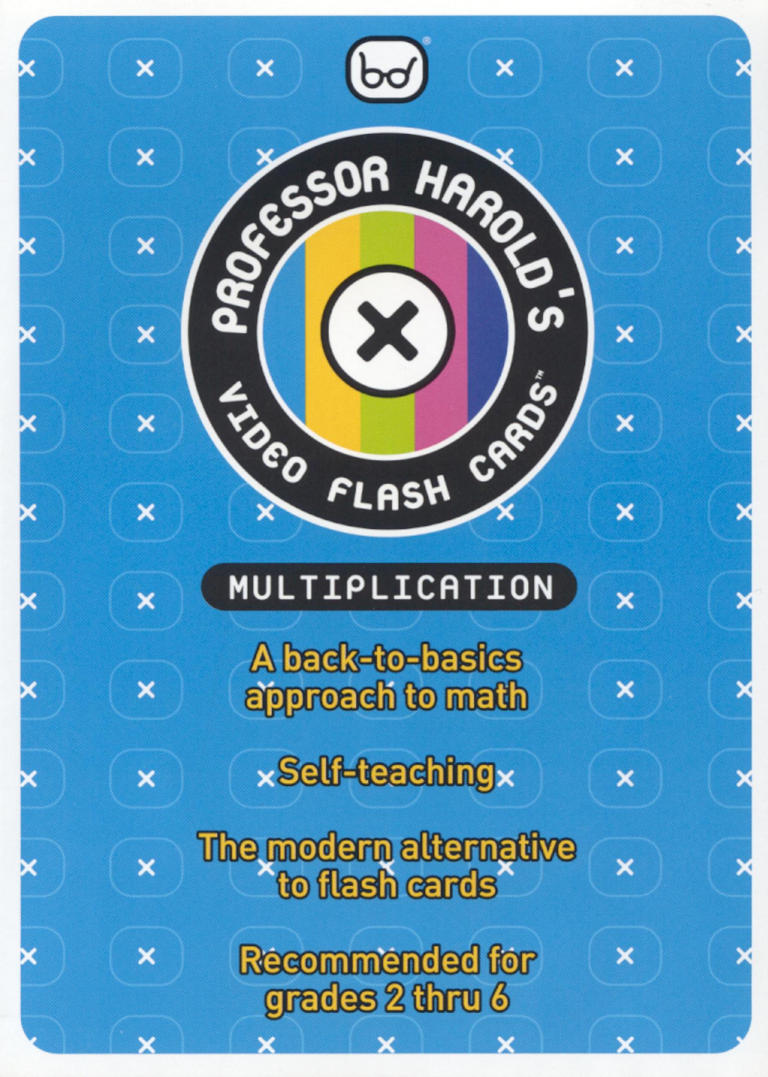 Prof. Harold Video Flash Cards: Multiplication