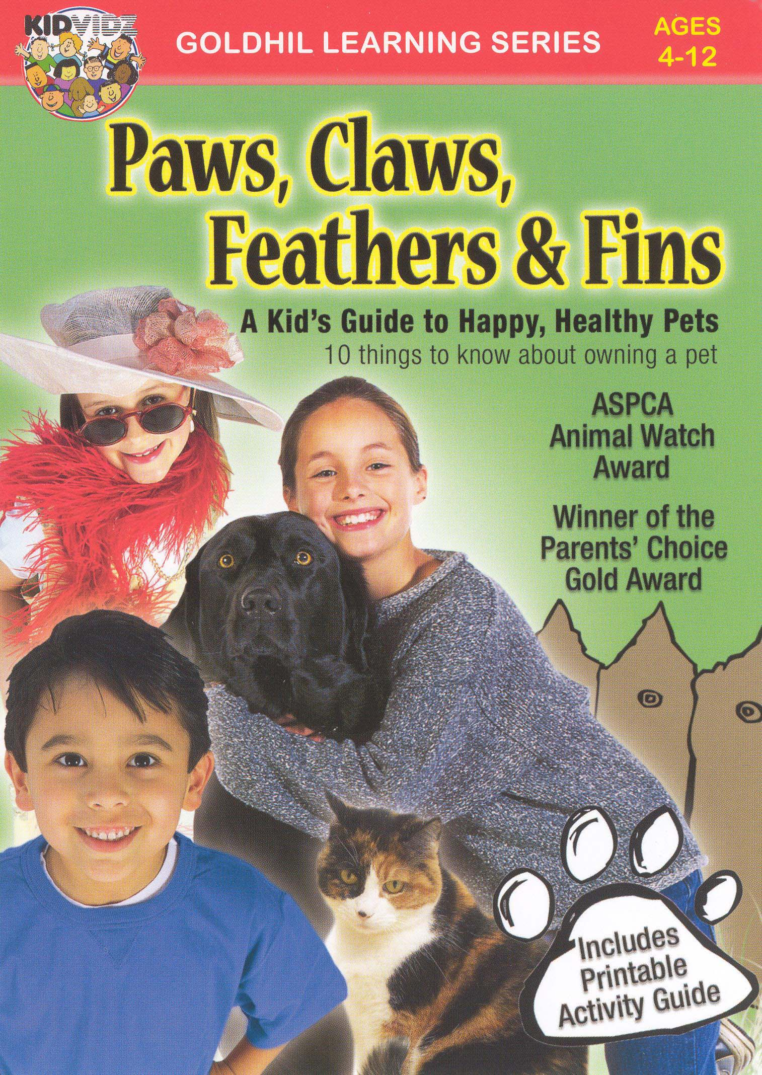 Paws, Claws, Feathers & Fins: A Kid's Video Guide to Pets