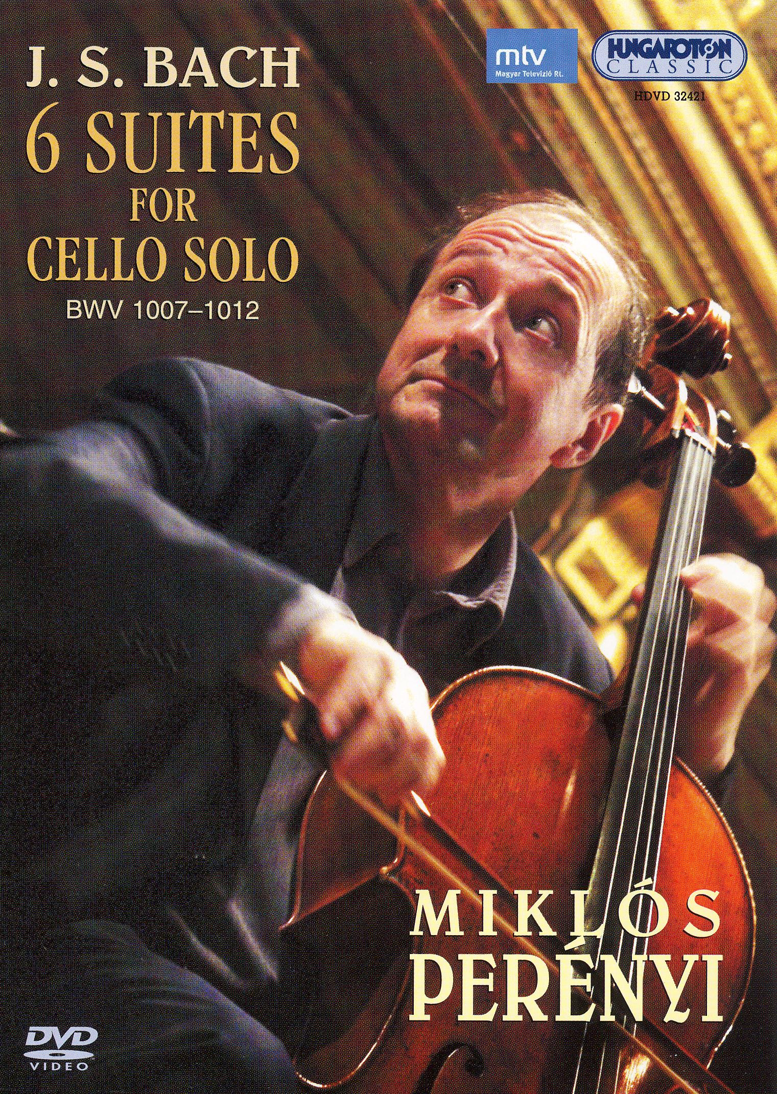 Miklos Perenyi: J.S. Bach - 6 Suites for Cello Solo, BWV 1007-1012