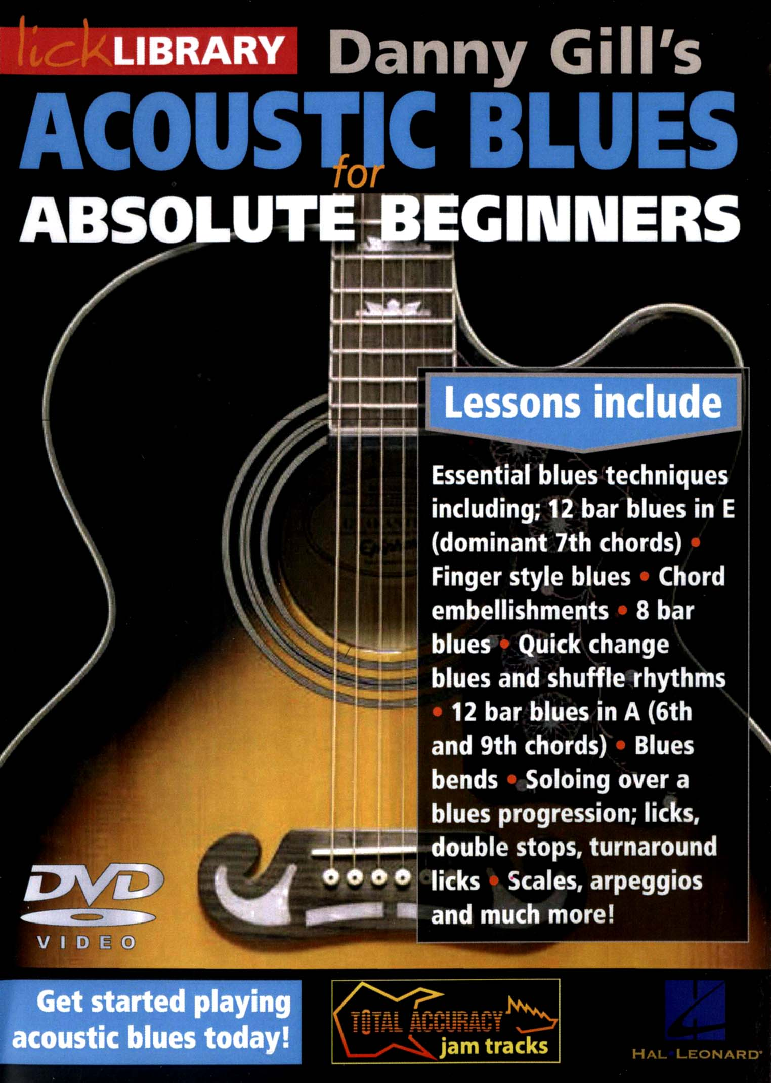 Lick Library: Danny Gill's Acoustic Blues for Absolute Beginners