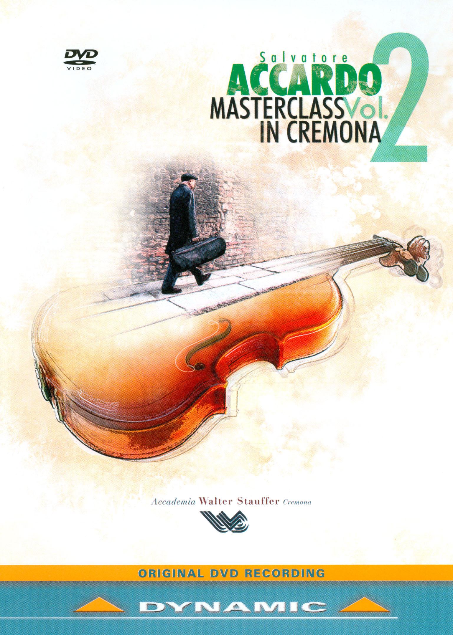 Salvatore Accardo: Masterclass in Cremona, Vol. 2
