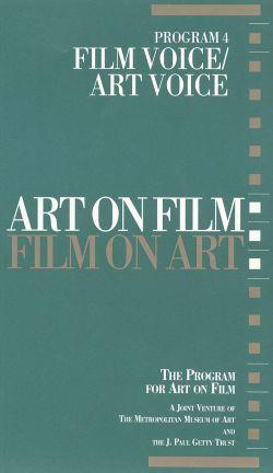 Art on Film/Film on Art, Program 4: Film Voice/Art Voice