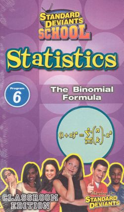 Standard Deviants School: Statistics, Program 6 - The Binomial Formula
