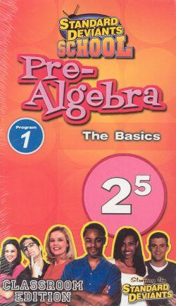 Standard Deviants School: Pre-Algebra, Program 1
