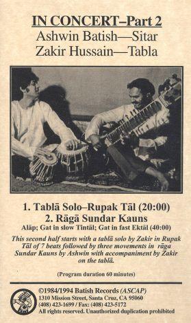 Ashwin Batish: In Concert, Part 2