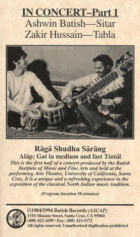 Ashwin Batish: In Concert, Part 1