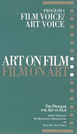 Art on Film/Film on Art : Film Voice/Art Voice