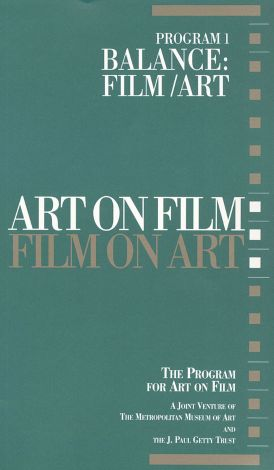Art on Film/Film on Art : Balance: Film/Art