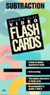 Child's Play Video Flash Cards: Subtraction