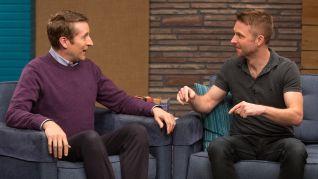 Comedy Bang! Bang!: Chris Hardwick Wears a Black Polo & Weathered Boots