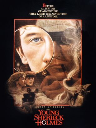 a commentary on the adventure movie young sherlock holmes directed by barry levinson I landed on the 1986 flick young sherlock holmes which fit the bill  first and  foremost, much like the movie itself, the novelization is a love letter to sir arthur  conan doyle in both style and tone  maybe the director, barry levinson, or the  producer, steven  stickers of the 80s cartoon commentary.