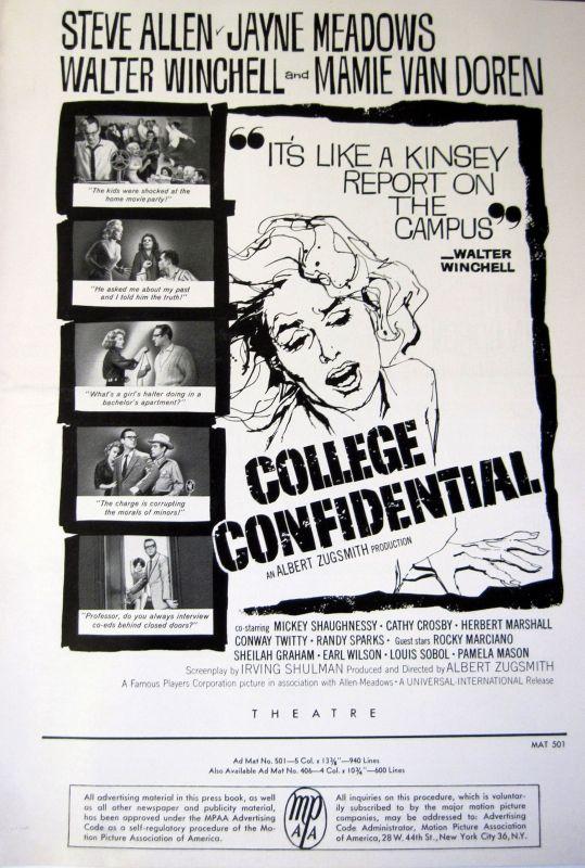 College Confidential (1960) - Albert Zugsmith | Review | AllMovie