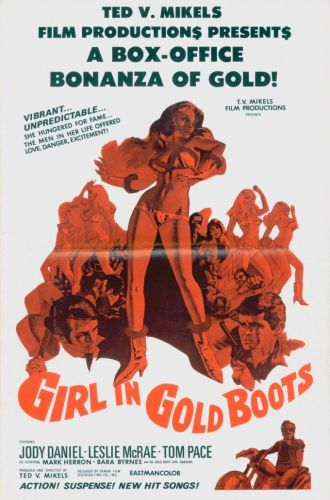 The Girl in Gold Boots