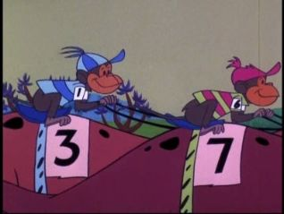 The Flintstones: Two Men on a Dinosaur