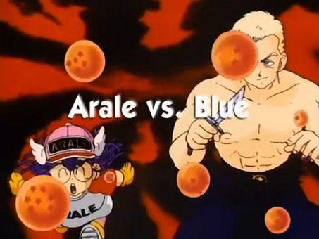 Dragon Ball : Arale vs. Blue