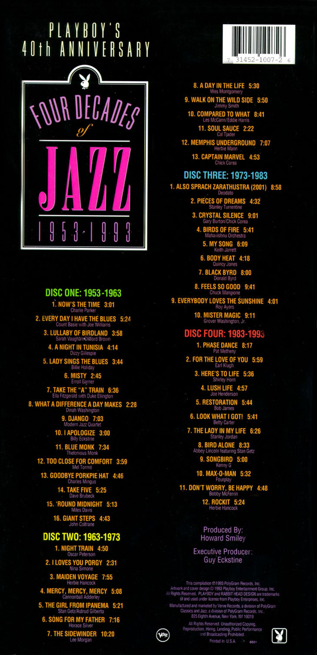 Playboy's 40th Anniversary: Four Decades of Jazz 1953-1993