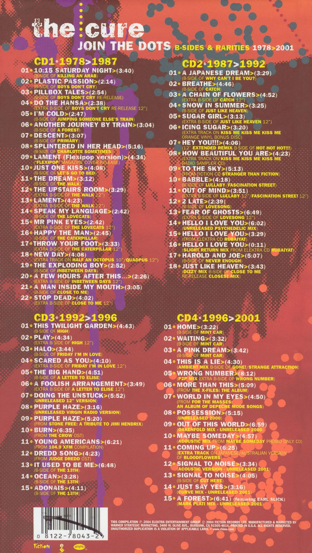 Join the Dots: B-Sides & Rarities, 1978-2001