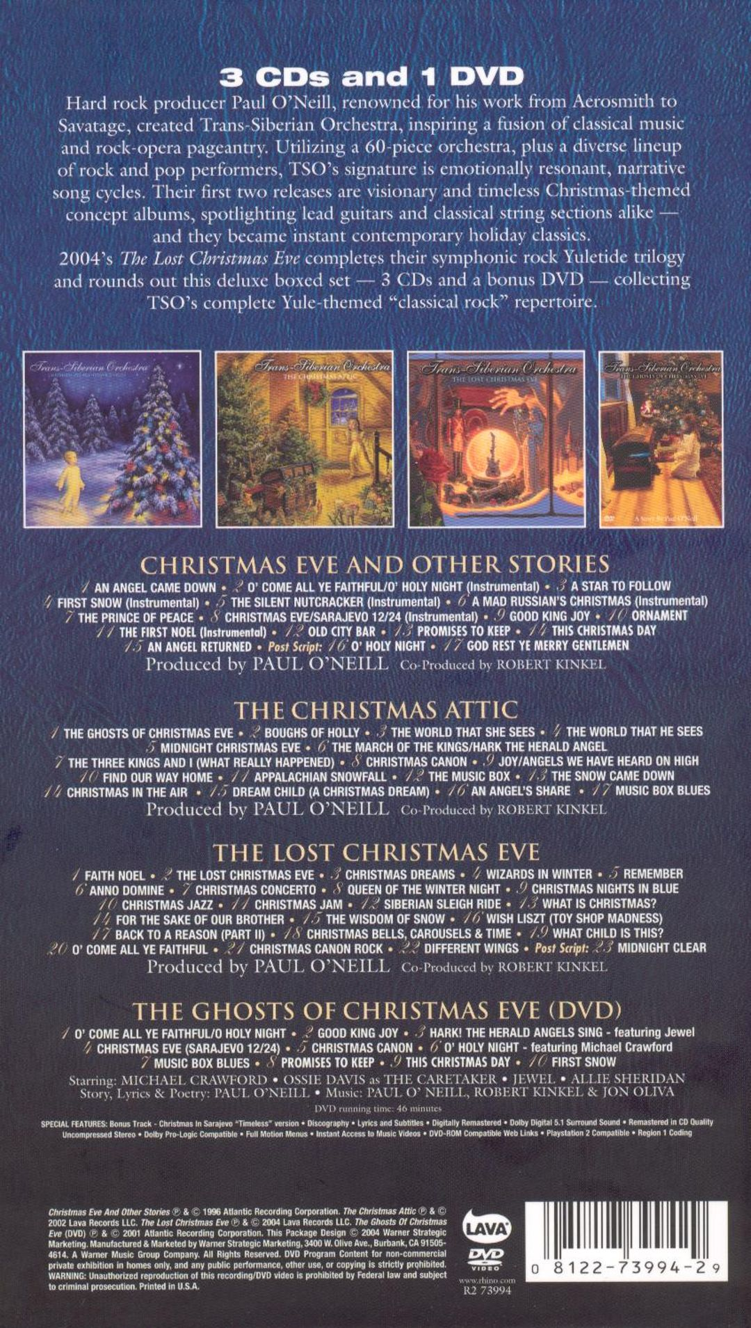 The Christmas Trilogy - Trans-Siberian Orchestra | Songs, Reviews ...