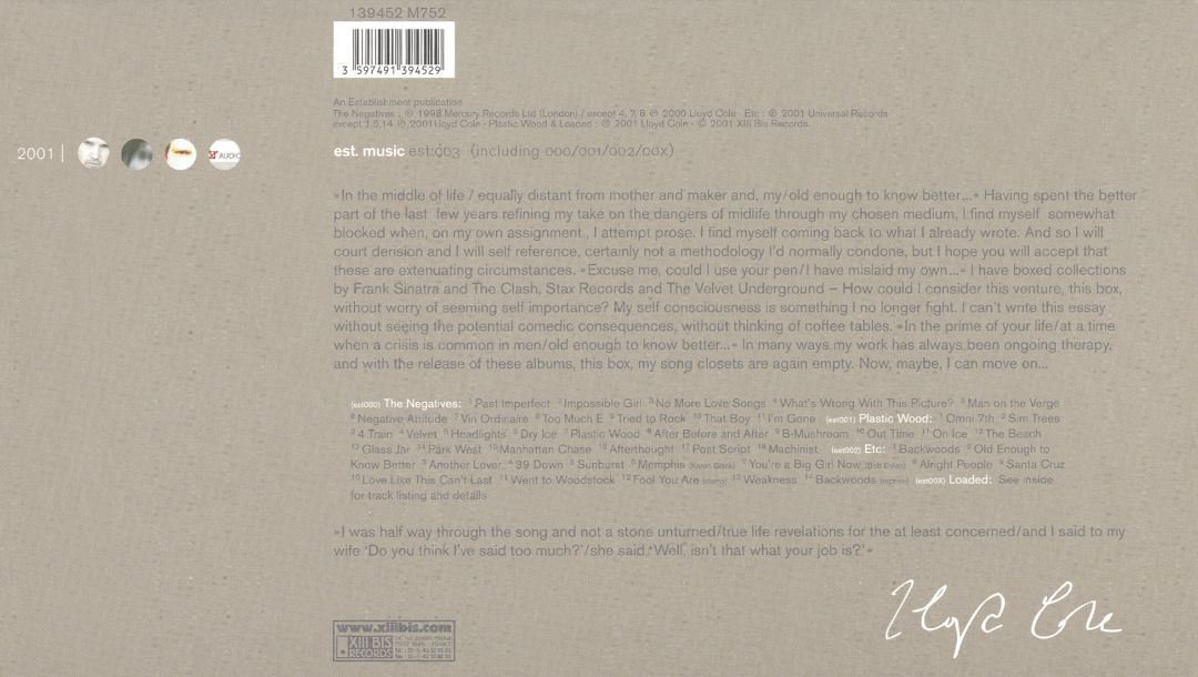2001 Collected Recordings