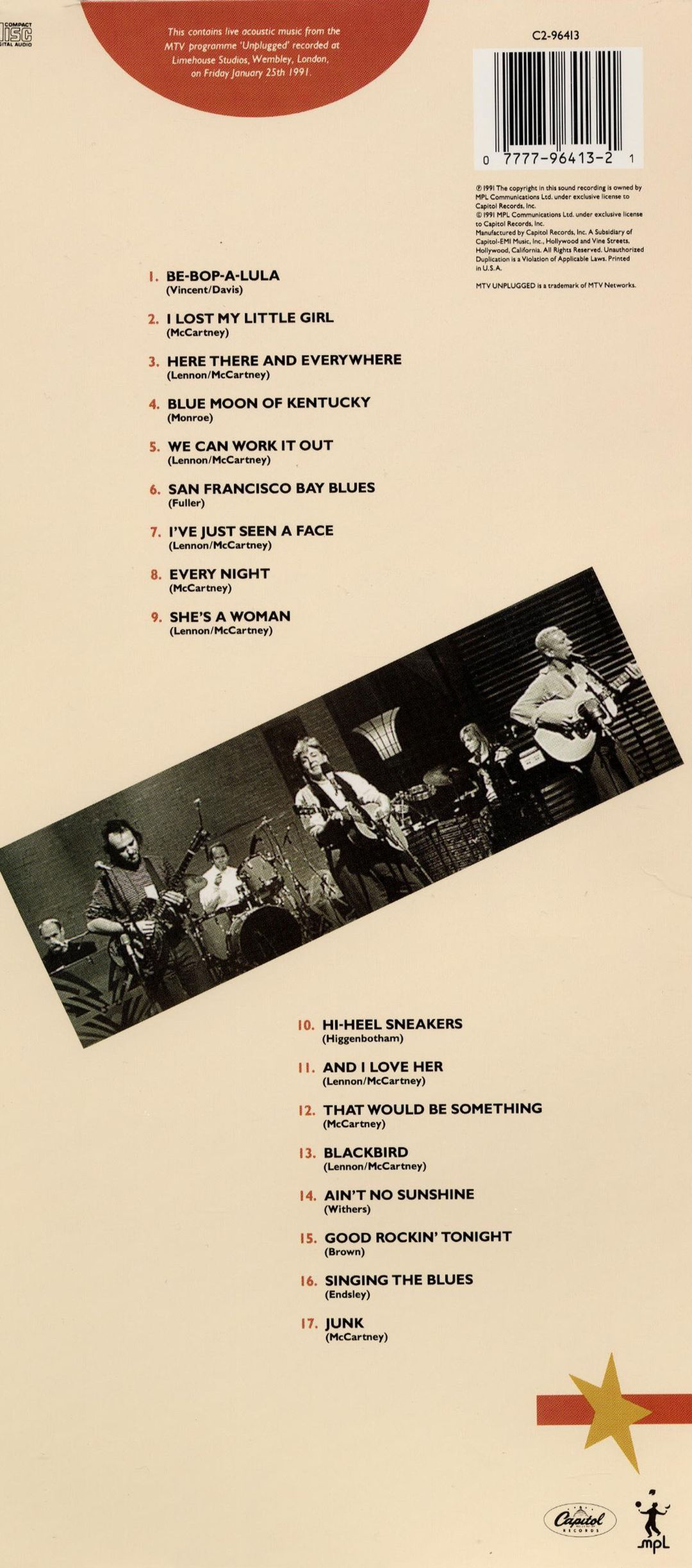 unplugged the official bootleg paul mccartney songs reviews