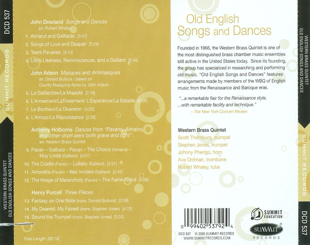 Old English Songs and Dances
