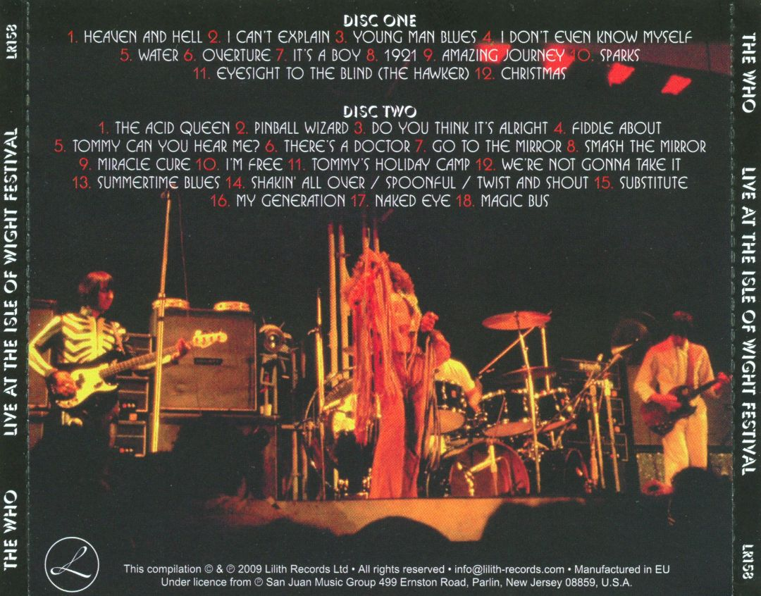Live at the Isle of Wight Festival [1970]