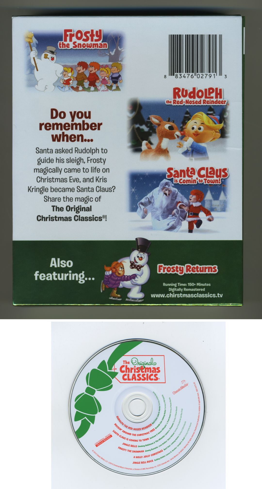 The  Original Christmas Classics [Universal CD/DVD]