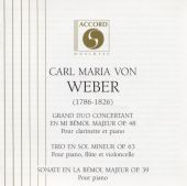 Weber: Grand Duo concertant, Op. 48 / Trio, Op. 63