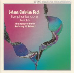 Hanover Band - J.C. Bach: Symphonies, Op. 6, Nos. 1-6