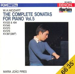 Mozart: The Complete Sonatas for Piano, Vol. 5