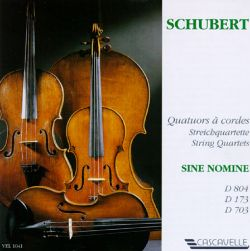 Schubert: String Quartets D. 804, D. 173, D. 703