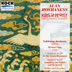 "Alan Hovhaness: Symphony No. 46 ""To The Green Mountains""; Symphony No. 39 for Guitar and Orchestra"