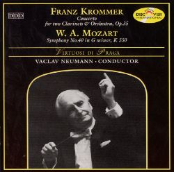 Franz Krommer: Concerto for two Clarinets & Orchestra; Mozart: Symphony No. 40 in G minor