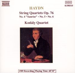 "Haydn: String Quartets, Op. 76, No. 4 ""Sunrise"", No. 5, No. 6"