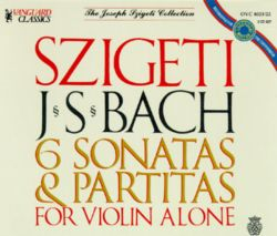 Bach: 6 Sonatas & Partitas For Violin Alone