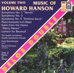 Music of Howard Hanson, Vol. 2