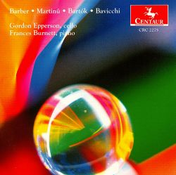 Gordon Epperson / Frances Burnett - Barber; Martinu; Bartok; Bavicchi
