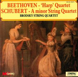 Beethoven: 'Harp' Quartet; Schubert: A minor String Quartet