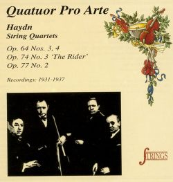 Haydn: String Quartets, Op. 64 Nos. 3, 4, Op. 74 No. 3 'The Rider', Op. 77 No. 2