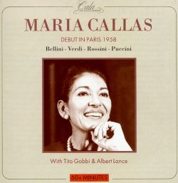 Maria Callas - Maria Callas's Debut in Paris 1958