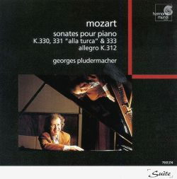 Mozart: Piano Sonatas Nos. 10, 11, 13; Allegro in G minor