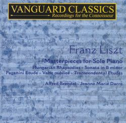 Liszt: Masterpieces for Solo Piano, Vol. 1