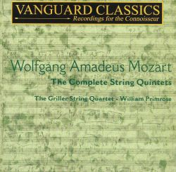 Griller String Quartet / William Primrose - Mozart: The Complete String Quintets