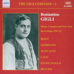 Beniamino Gigli - The Milan, Camden and New York Recordings 1919-22