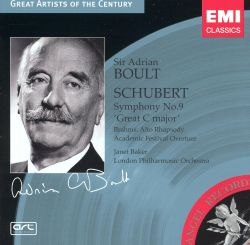 Schubert: Symphony No.9 'The Great'; Brahms: Alto Rhapsody; Academic Festival Overture
