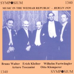 Music in the Weimar Republic: Berlin 1929