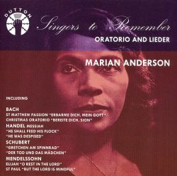 Singers to Remember: Marian Anderson