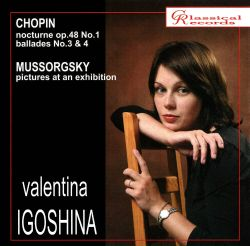 Chopin: Nocturne, Op. 48 No. 1; Ballades Nos. 3 & 4; Mussorgsky: Pictures at an Exhibition