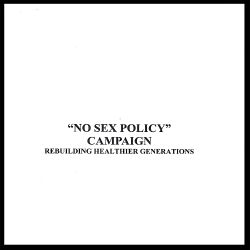 No Sex Policy - No Sex Policy